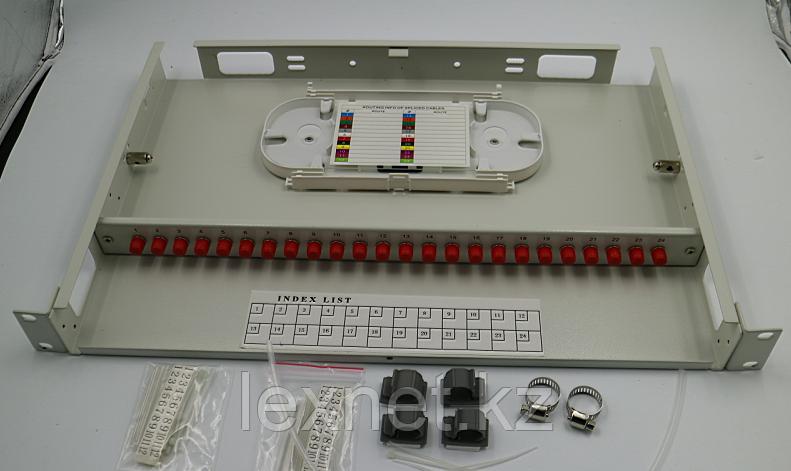 Кросс оптический OK-FDF-1U-24-SC SC/APC SM 8 PORT ALL SET  укомплектованный