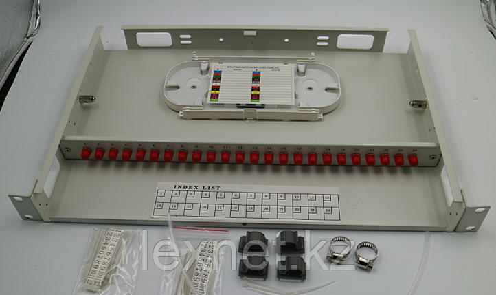 Кросс оптический OK-FDF-1U-24-LC LC/UPC SM 24 PORT  укомплектованный, фото 2