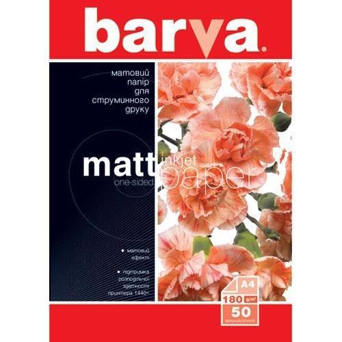 Бумага BARVA Матовая (IP-A180-032) 180g А4 50л