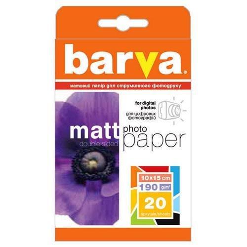 Бумага BARVA Матовая Двусторонняя (IP-B190-065) 190g (10x15) 20л
