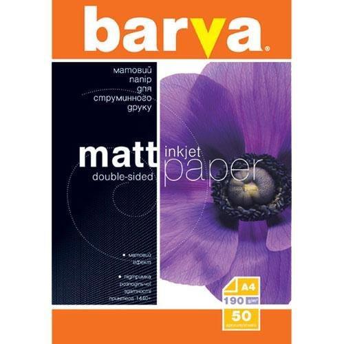 Бумага BARVA A4 Матовая Двусторонняя (IP-B190-057) 190g A4 50л
