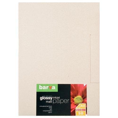 Бумага BARVA Глянцевая/матовая (IP-D200-147) 200g A3 50л