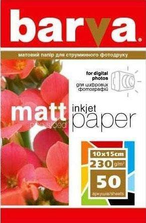 Бумага BARVA Матовая (IP-A230-023) 230g (10x15) 50л
