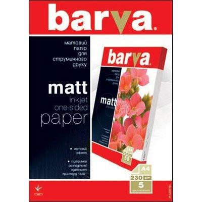 Бумага BARVA Матовая (IP-A230-T01) 230g А4 5л
