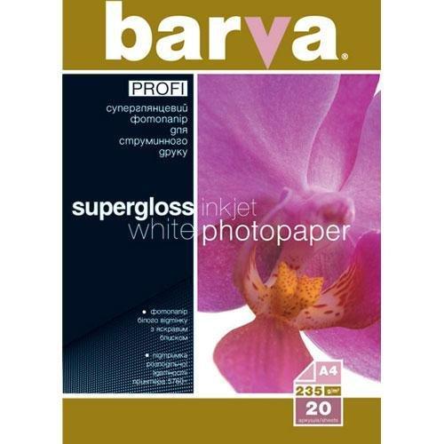 Бумага BARVA PROFI Белый Суперглянец (IP-R235-027) 235g А4 20л