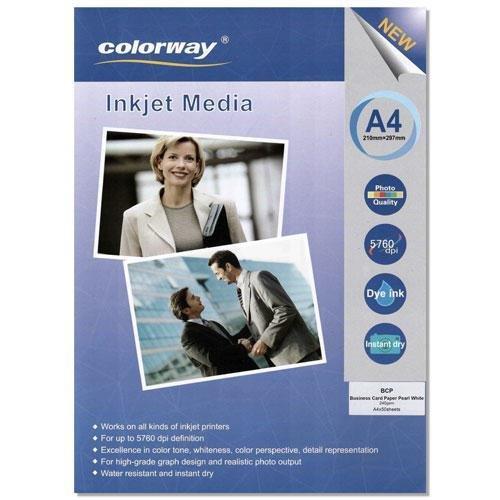 Фотобумага COLORWAY для визитных карт  240g А4 50л (BCP) Pearl White