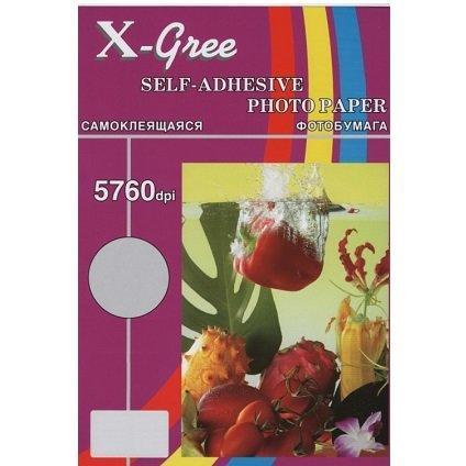 Бумага X-GREE Самоклеящаяся Матовая  А4/100/120г inkjet (10)