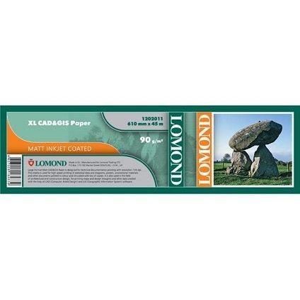 """Бумага рулонная 24"""" Lomond Premium (1202011) для САПР и ГИС (610мм*45м*50мм) 90 г/м2"""