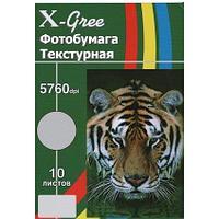 Голографическая фотобумага для струйной печати X-GREE PA260Y-A4-10 SILVER SQUARE GRID LINE