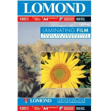 Бумага Lomond A4 L1302142 100 mk глянц для ламинир. 50л.