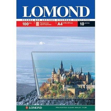 Фотобумага Lomond A4 0708411, 100мк,10л прозр.для цв.печати водными чернилами (односторон.полиэстер)