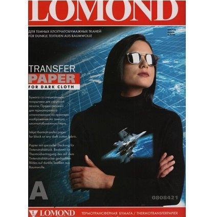 Термотрансферная бумага Lomond для стручной печати для ТЁМНЫХ тканей  (A4/10)  LOMOND  0808421