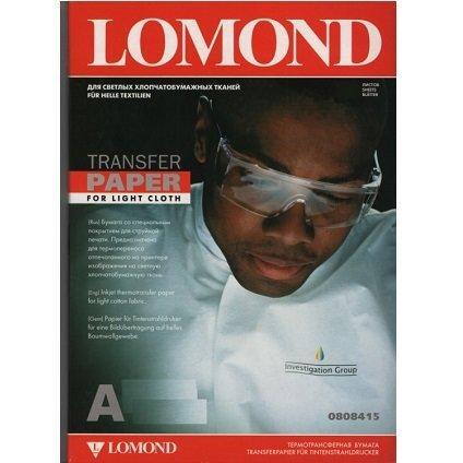 Термотрансферная бумага Lomond для стручной печати для СВЕТЛЫХ тканей  (A3/50)  LOMOND 808315