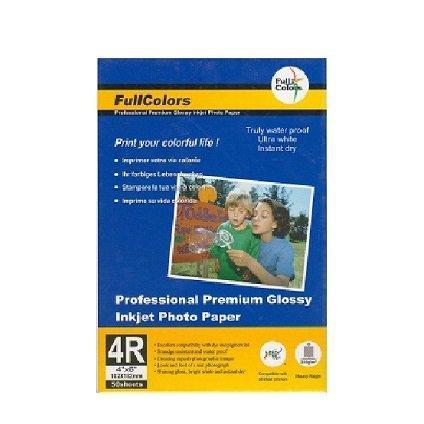 Высокоглянцевая фотобумага с блеском на резиновой основе FULLCOLORS RLP270-4R*50 (80)