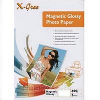 Фотобумага X-GREE глянцевая на магнитной основе  4R - 5 листов 690GSM