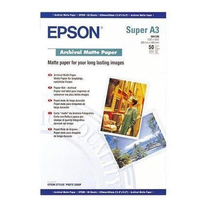 Фотобумага Epson матовая Archival Matter Paper A3+ 192 гр 50листов C13S041340