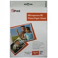 Микропористая глянцевая фото бумага на резиновой основе RG260G-13*18-50 EZ PRINT, 260 гр