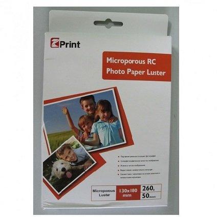 Микропористая глянцевая с блеском фото бумага на резиновой основе EZ PRINT RL260L-13*18-50