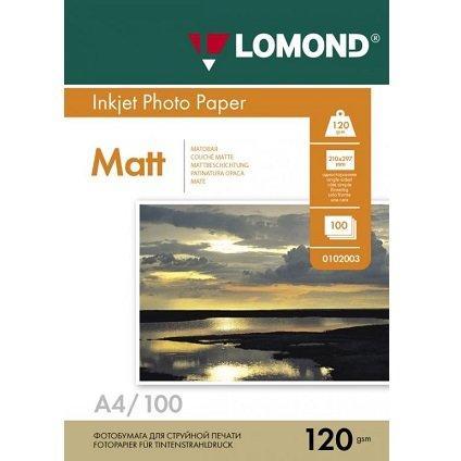 Фотобумага LOMOND A4/120грамм/100листов/ 1-сторон.(0102003)