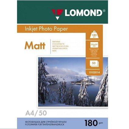 Фотобумага LOMOND A4/180грамм/50листов/  1-сторон.(0102014)