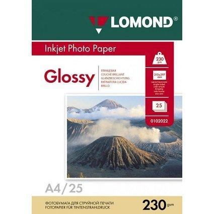 Фотобумага LOMOND A4/230грамм/25листов/глянцевая 1-сторон.(0102049)
