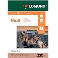Матовая фотобумага LOMOND A3/230грамм/50листов/ 1-сторон.(0102156)