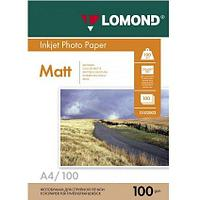 Матовая фотобумага LOMOND A4/100грамм/100листов/ 2-сторон.(0102002)