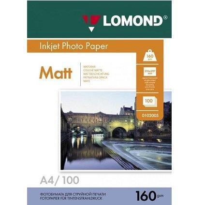 Матовая фотобумага LOMOND A4/160грамм/100листов/ 1-сторон.(0102005)