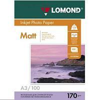 Матовая фотобумага LOMOND A3/170грамм/100листов/ 2-сторон.(0102012)