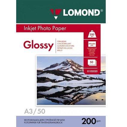 Глянцевая фотобумага LOMOND A3/200грамм/50листов/односторонняя, (0102024)
