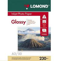 Глянцевая фотобумага LOMOND A3/230грамм/50листов/односторонняя, (0102025)