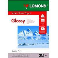 Глянцевая фотобумага LOMOND А4/50/215г  (102057)