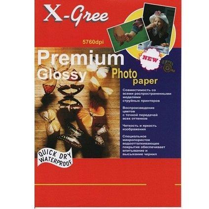 Фотобумага X-GREE 13*18/50/200г  Глянцевая Премиум 53W200-13*18 (40)