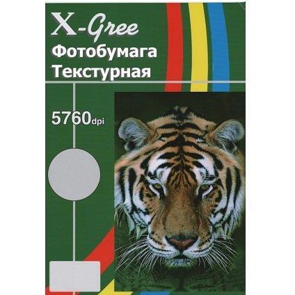 Двухсторонняя глянцевая фотобумага X-GREE egd250l-a4-50 с текстурой полоска (stripe)50лист(20)