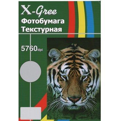 Двухсторонняя глянцевая фотобумага с текстурой кожи (with leather) X-GREE egd300l-a4-50 50лист(18)