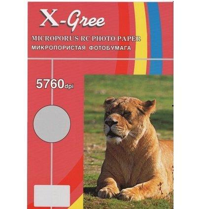 Микропористая глянцевая фотобумага на резиновой основе X-GREE RG260G-10х15-50, 260 гр
