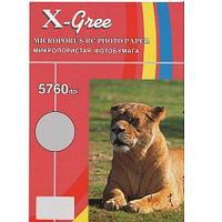 Микропористая фотбумага  на резиновой основе X-GREE RG260G-A5-50, 260гр (40)