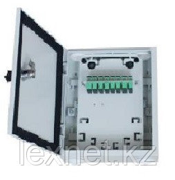 Коробка распределительная этажная КР3-16 (8+1 дуплексные адаптеры SC/APC)+сплиттер 1*4