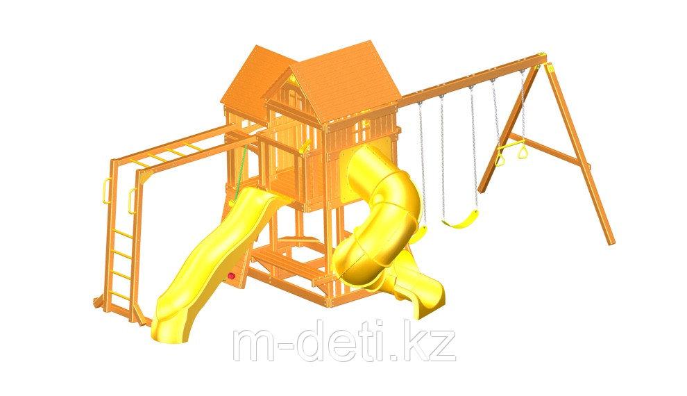Детская площадка «ФУНТИК» c винтовой трубой, горкой и рукоходом