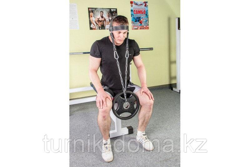 Упряжь D2 для тренировки мышц шеи (натуральная кожа 3 мм) - фото 7