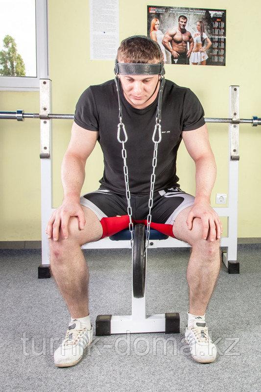 Упряжь D2 для тренировки мышц шеи (натуральная кожа 3 мм) - фото 8