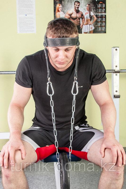 Упряжь D2 для тренировки мышц шеи (натуральная кожа 3 мм) - фото 9