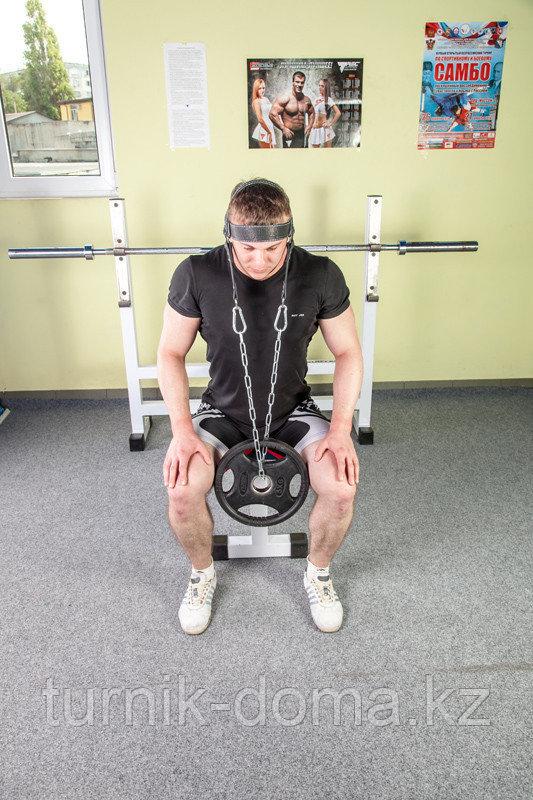 Упряжь D2 для тренировки мышц шеи (натуральная кожа 3 мм) - фото 10