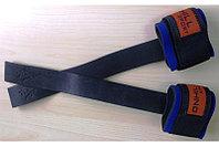 Лямки штангиста с фиксатором, кожаные, фото 1