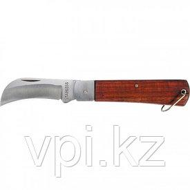 Нож складной с загнутое лезвие, 200мм, деревянная ручка, Sparta