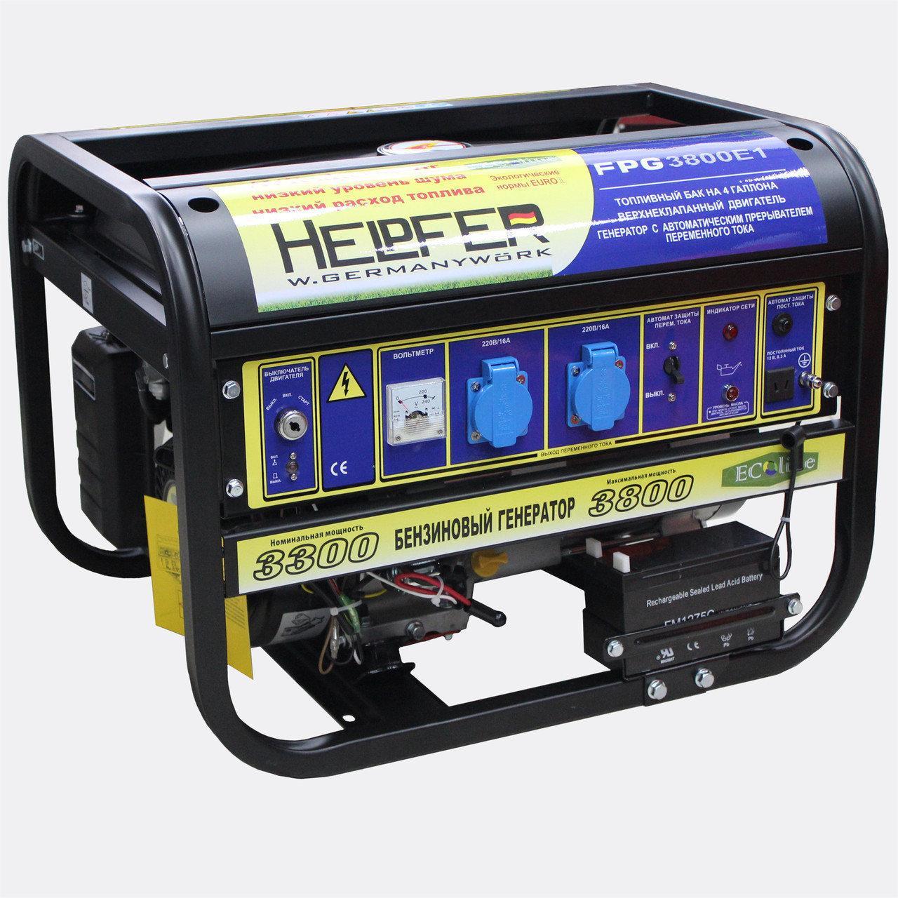 Бензиновый генератор Helpfer FPG3800E1