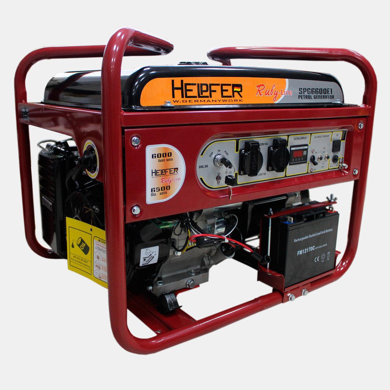 Бензиновый генератор Helpfer SPG 6600E1
