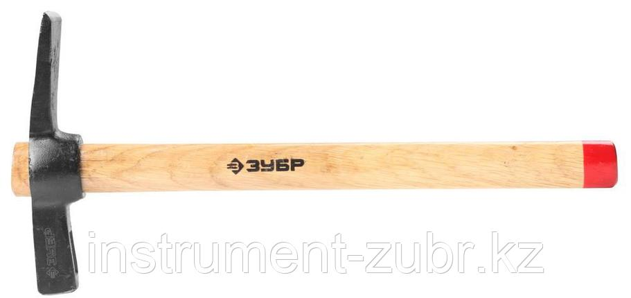Молоток-кирочка КАМЕНЩИКА 500г с деревянной рукояткой, ЗУБР Мастер 2015-05, фото 2