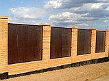 Заборная секция с алюминиевой окантовкой с заполнением сэндвич-панелями FS-A, фото 2