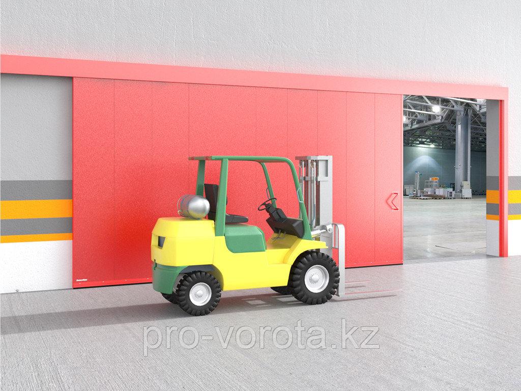 Откатные противопожарные ворота с классом огнестойкости EI60, EI90
